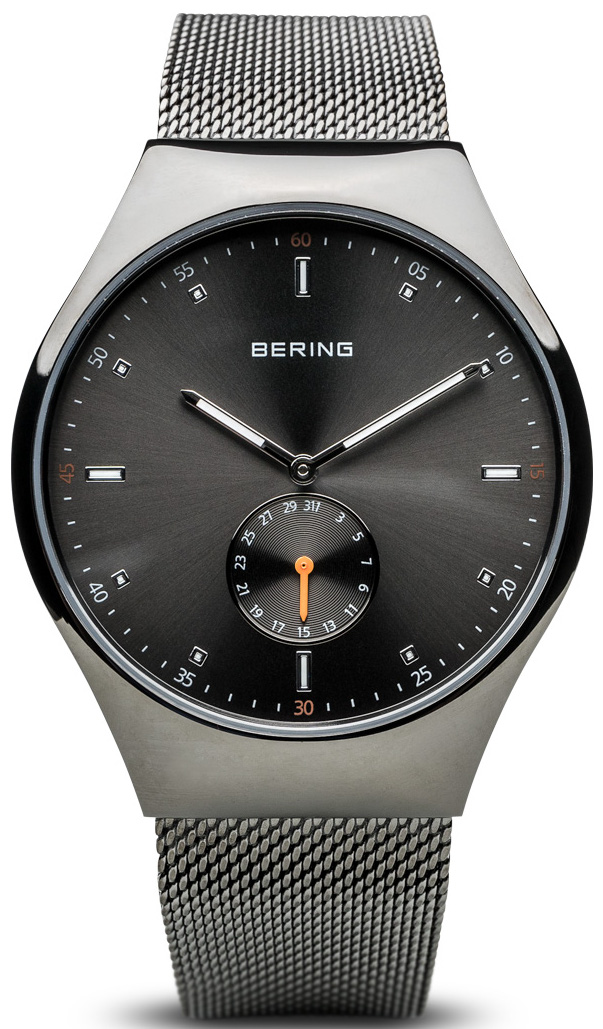 Bering Time - Smart Traveler - Mens Grey Mesh Watch Bluetooth Connected 70142-077